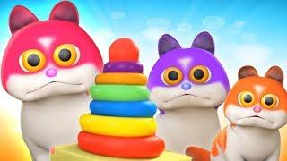 Три маленьких котенка | популярные русские рифмы | котенок рифмы для детей | Three Little Kittens