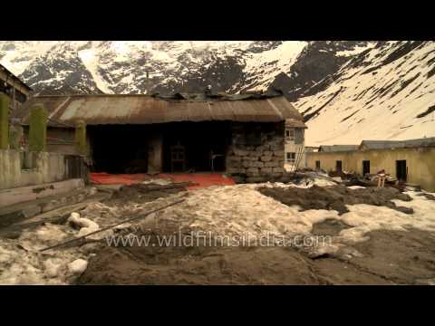 Impact of mass destruction near the temple of Kedarnath