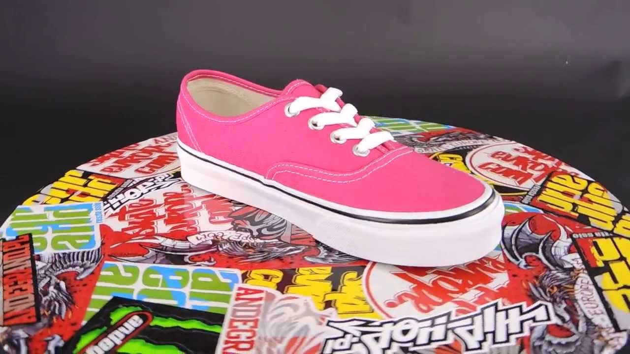 vans authentic rouge red/true white