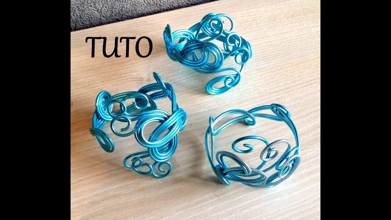 Tuto bracelet en fil aluminium 1 youtube - Bracelet original fait main ...