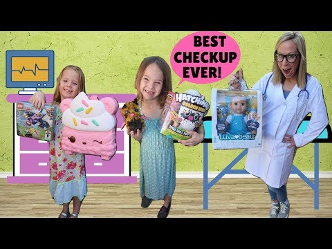 KIds Get Annual Check Ups at FAKE Toy Doctor !!!