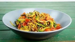 Zoodeln mit Pilzen | leichte Sommerküche