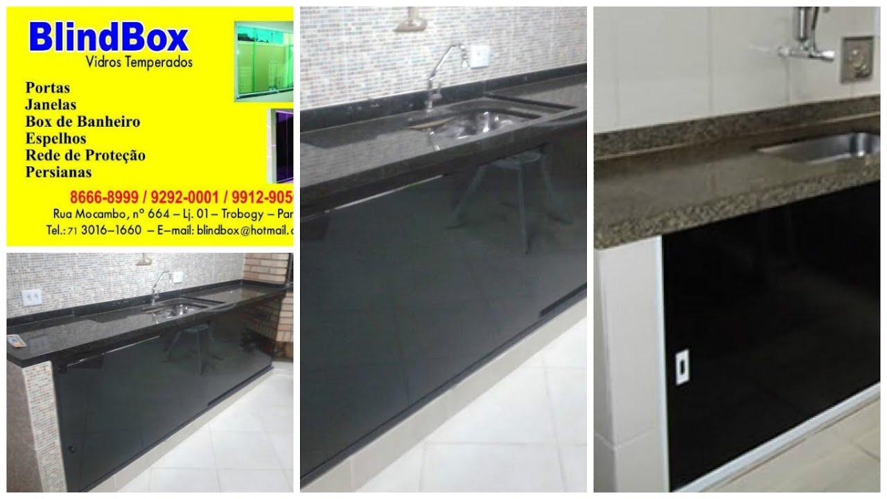 Box de pia de vidro BlindBox  YouTube -> Armario De Banheiro Pvc