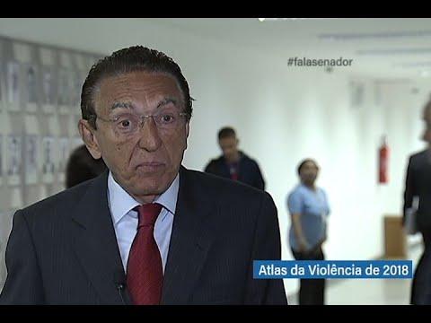 #falasenador: Edison Lobão fala sobre a atualização dos dados da violência no Brasil