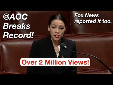 Alexandria Ocasio-Cortez Breaks MOST VIEWED Record for a C-SPAN Twitter Video