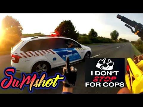 I DON'T STOP FOR COPS ! SUPERMOTO POLICE CHASE rendőr motoros üldözés