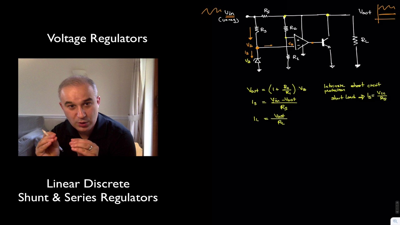Analysis Design Of Discrete Shunt Voltage Regulators Youtube Current Output Multiplier For 78xx Regulator