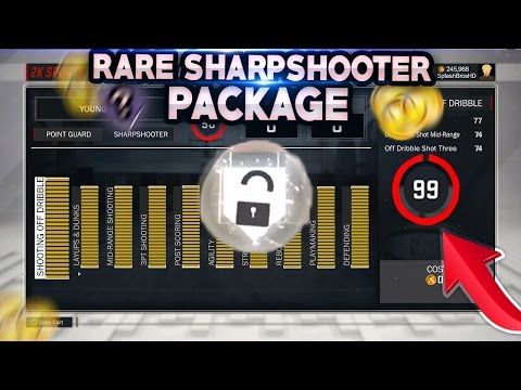 NEW RARE SHARPSHOOTER PACKAGE ! OVERPOWERED GREENLIGHT MyPlayer Archetype Build NBA 2K17 MyPARK