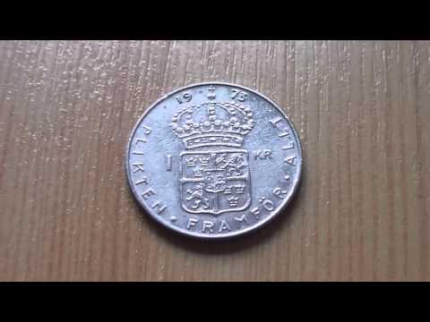 Swedish Krona - 1 KR coin from 1973 in HD