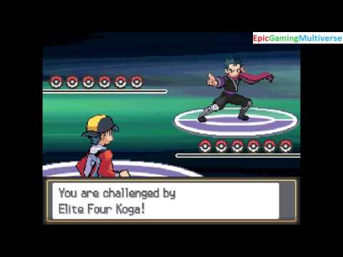 Ash VS Koga The Member Of The Elite Four In A Pokemon HeartGold Pokemon Battle / Match