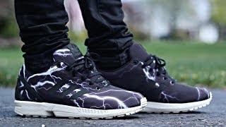 "Adidas Zx Flux ""lightning"" On Feet!"