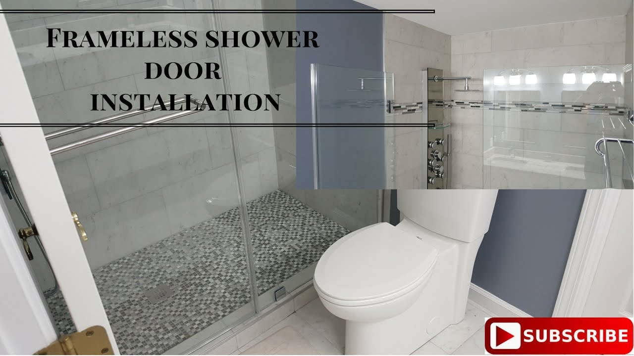 How To Install A Frameless Glass Door Youtube