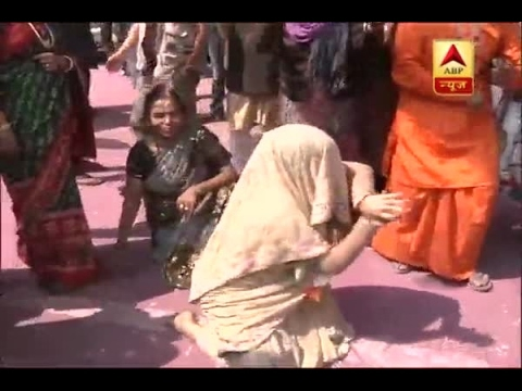 BJP woman supporter performs 'Naagin dance' following landmark victory in UP