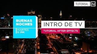 intro tv broadcast opener tutorial after effects español
