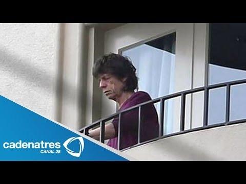 Mick Jagger reaparece tras la muerte de su novia L'Wren Scott