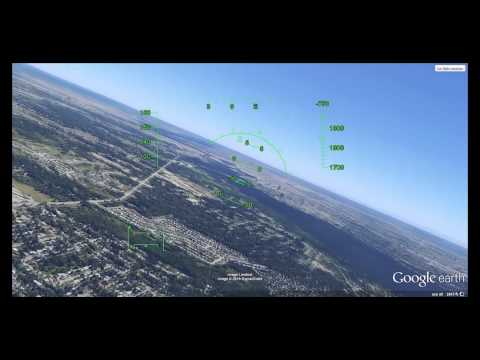 Google Earth Flight Simulator 3D Scenery Demo