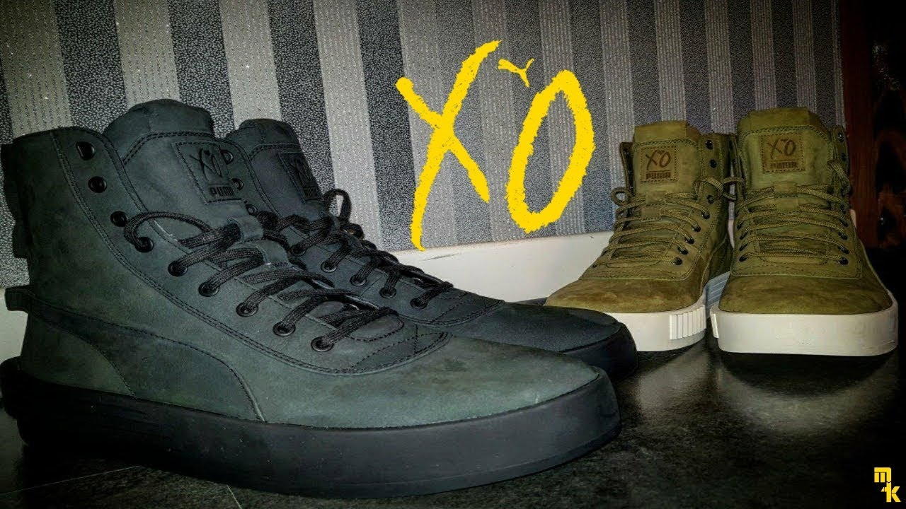 ca0a401f6ddf PUMA XO Parallel Ignit Black   Green Olive The Weeknd Sneakers Review