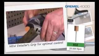 видео Многофункциональный инструмент гравер Dremel 4000 1/45 (F0134000JG)