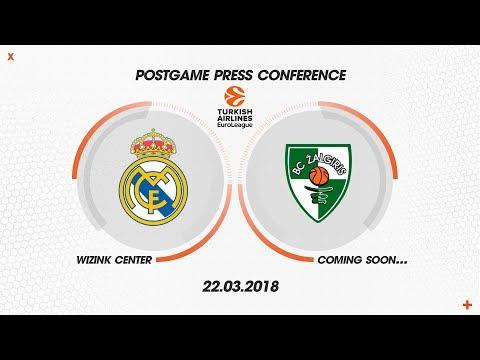 POST PRESS CONFERENCE   REAL MADRID - ZALGIRIS KAUNAS