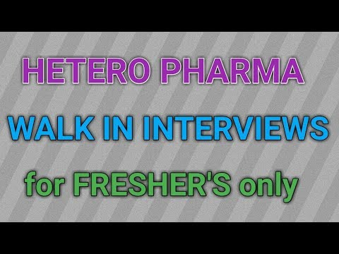 HETERO Pharma Walk in Interviews for Freshers in Hyderabad 2017 || PHARMA JOBS ||