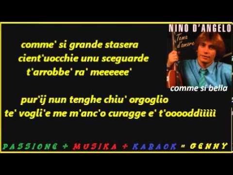 NINO D'ANGELO Comme' si bella karaoke