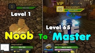 Noob To Master! Level 65! Unlocked All Maps & Everything! - Dungeon Quest Roblox