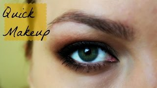 Быстрый вечерний макияж с яркими губами Thumbnail