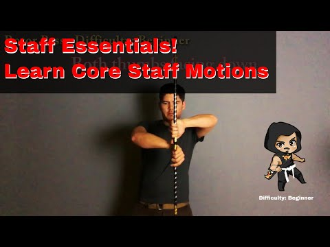 How to Spin a Staff - Core Essentials Tutorial ( Flow Staff, Bo Staff, Baton, Sticks in slow motion)