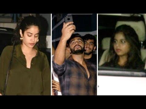 Janhvi Kapoor, Arjun Kapoor, Suhana Khan At Sanjay Kapoor Home | Shanaya's birthday celebration
