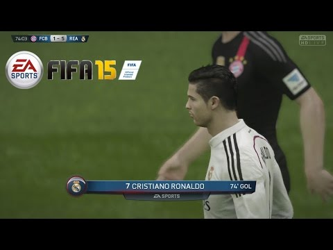 Temporadas Online | FIFA 15 Gameplay en PS4 - Real Madrid Vs Bayern Munich, Delanteros imparables