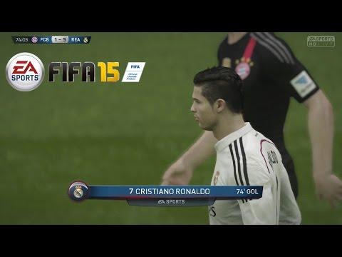 Temporadas Online | FIFA 15 Gameplay en PS4 - Real Madrid Vs Bayern Munich, Delanteros imparables