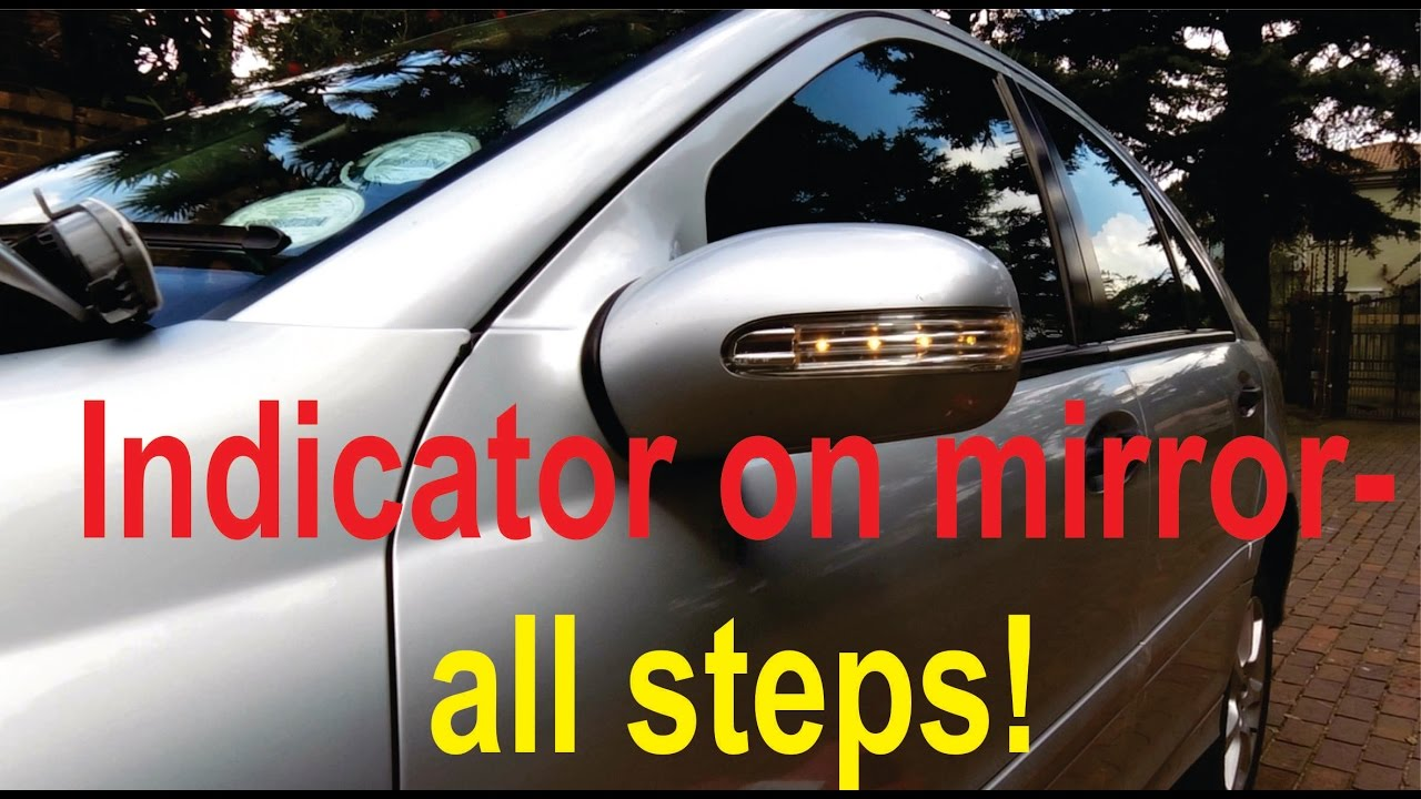 small resolution of turn signal on mirror repair for c class w203 all steps shown