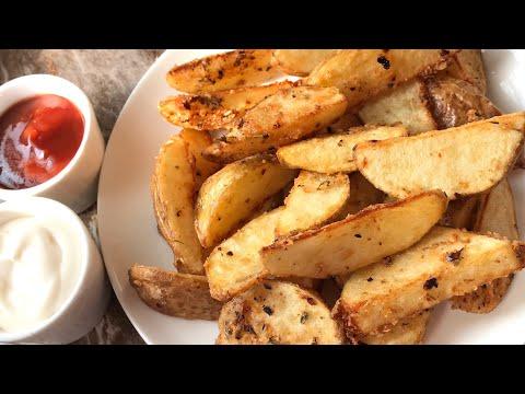 Crispy potato wedges recipe