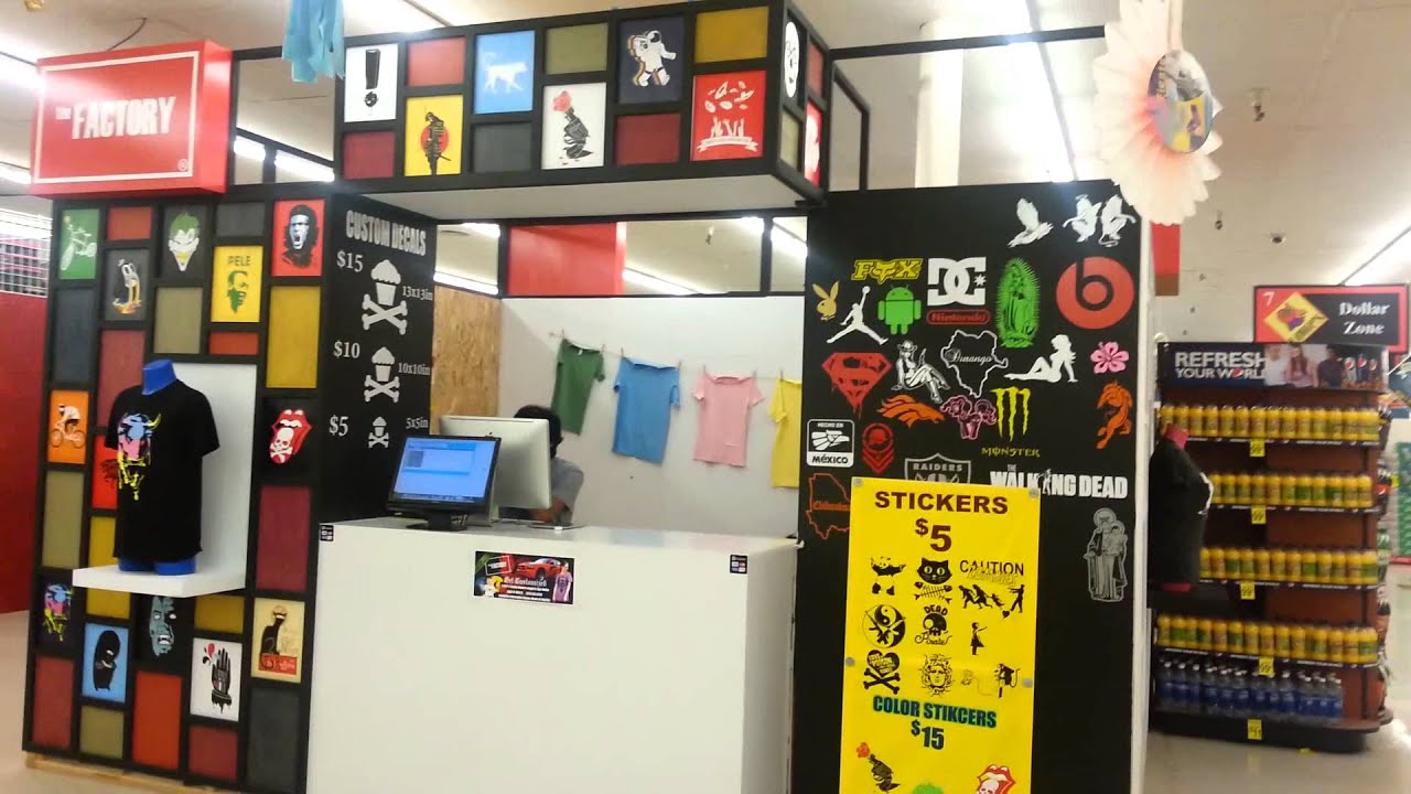 Cool Custom T Shirt And Decals Kiosk Youtube