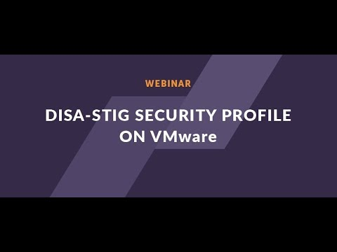 Webinar: How to implement DISA STIG