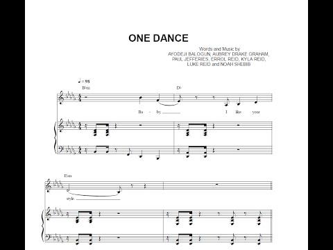 One Dance - Drake (feat. Wizkid & Kyla) [Sheet Music & Midi Download]