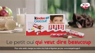 Publicité Kinder Chocolat 2020