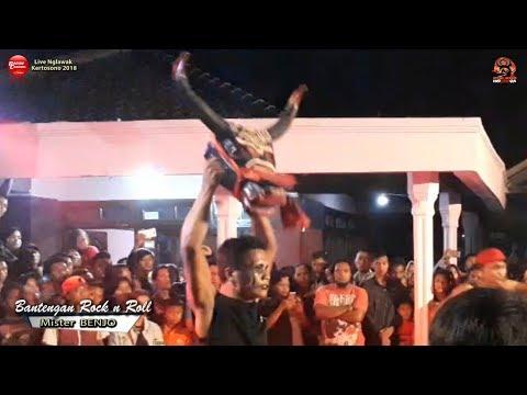 Bantengan Rock n Roll Mister BENJO Beraksi | MUSTIKO WIJOYO Live Nglawak Kertosono 2018