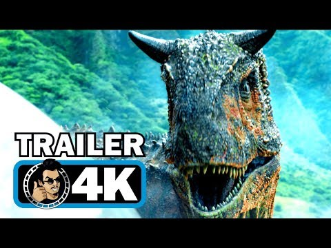 JURASSIC WORLD 2 Official Trailer #1 (4K ULTRA HD) Chris Pratt Dinosaur Movie 2018