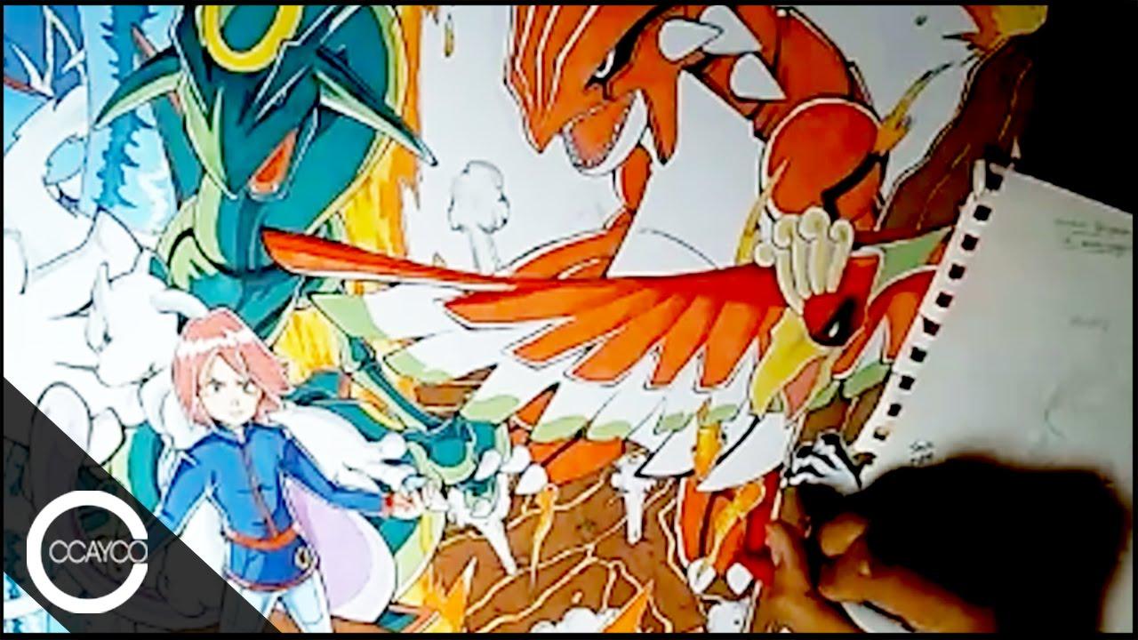 Drawing trainer silver and legendary pokemon playmat youtube - Pokemon argent pokemon rare ...