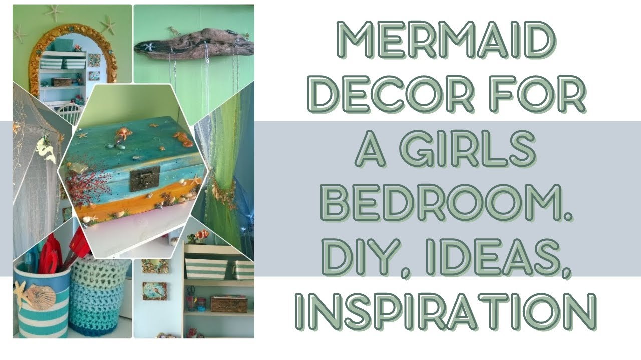 Mermaid decor for a girls bedroom