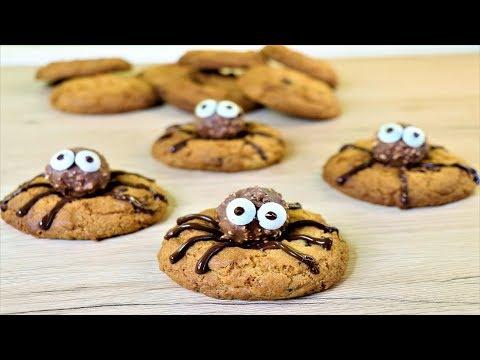 Spider Cookies | Chocolate Chips Cookies | Halloween Cookies | Neetu Suresh