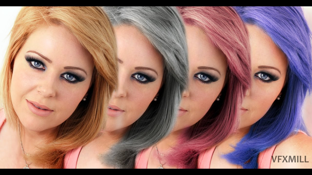 How to Change Hair Color in Photoshop|Photoshop tutorial - YouTube