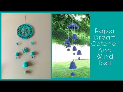 DIY Paper Dream Catcher and Wind bell || Recycle Newspaper || 3 Design