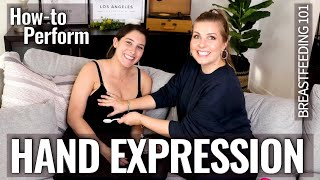 How To Hand Express Breastmilk - REAL Footage | Sarah Lavonne