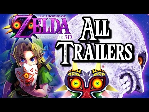 Majora's Mask 3D ALL OFFICIAL TRAILERS