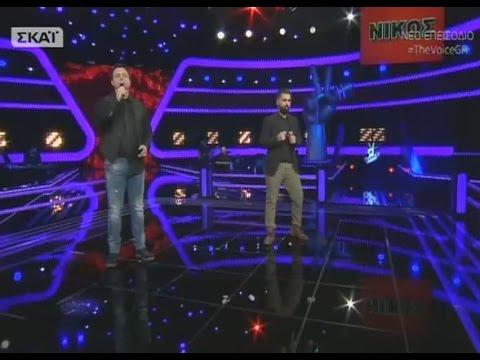 The Voice |  Γιώργος Χατζηδουκάκης vs Νίκος Δήμου | 2o Battle