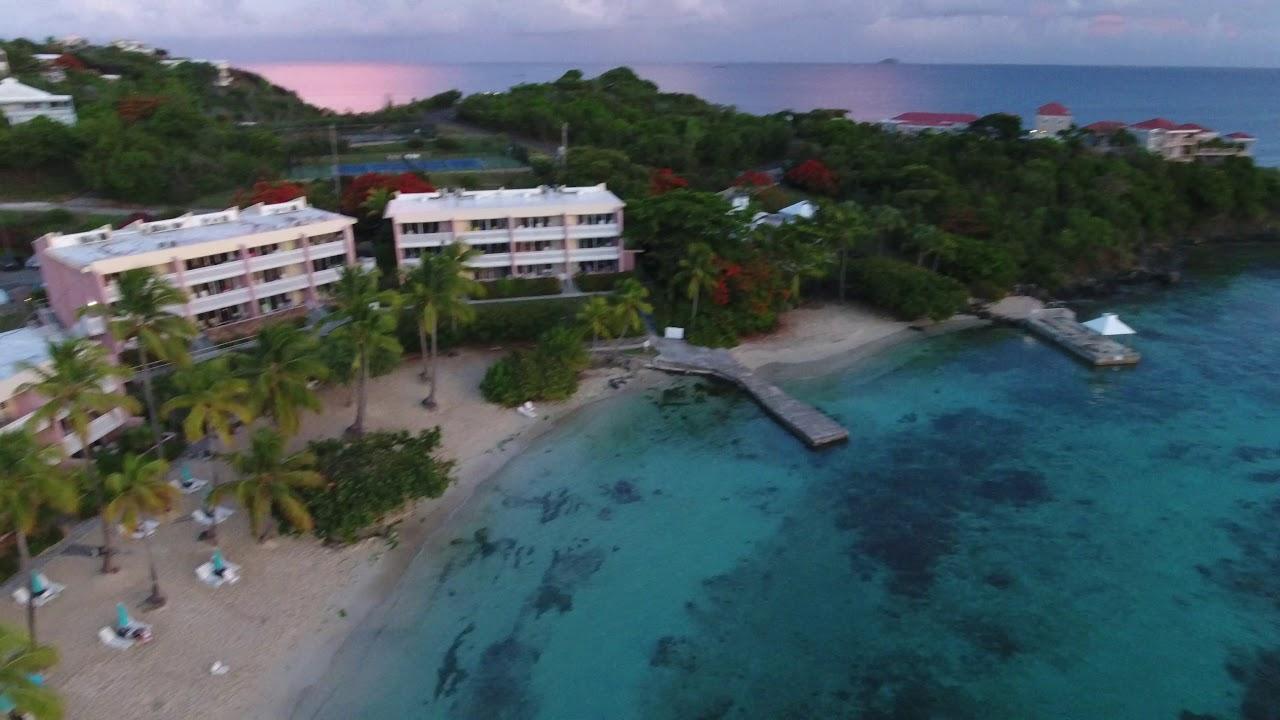 St Thomas Secret Harbor Resort Via Drone