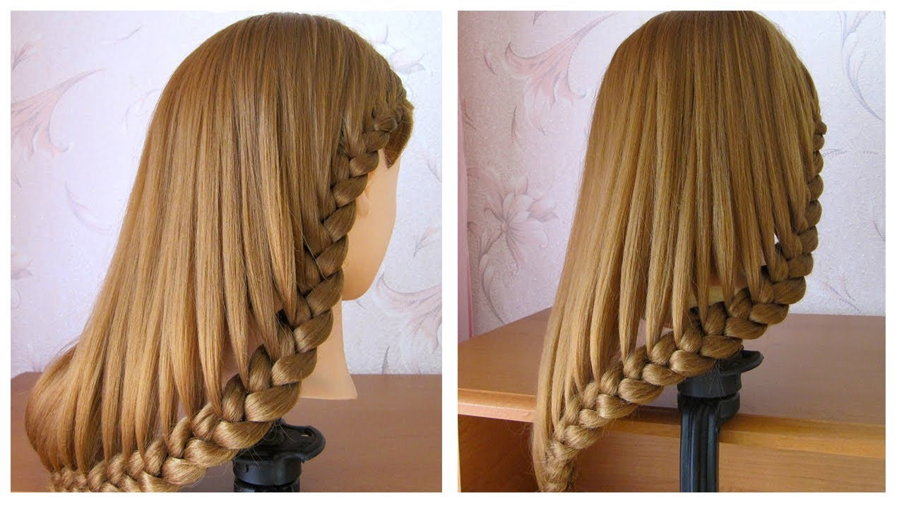 coiffure simple cheveux mi long long tuto coiffure avec tresse facile faire youtube. Black Bedroom Furniture Sets. Home Design Ideas