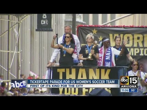 ABC15 News at 11am Ticker tape parade for women's soccer